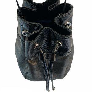 Coach   Gorgeous Two-Tone Leather Bucket Crossbody